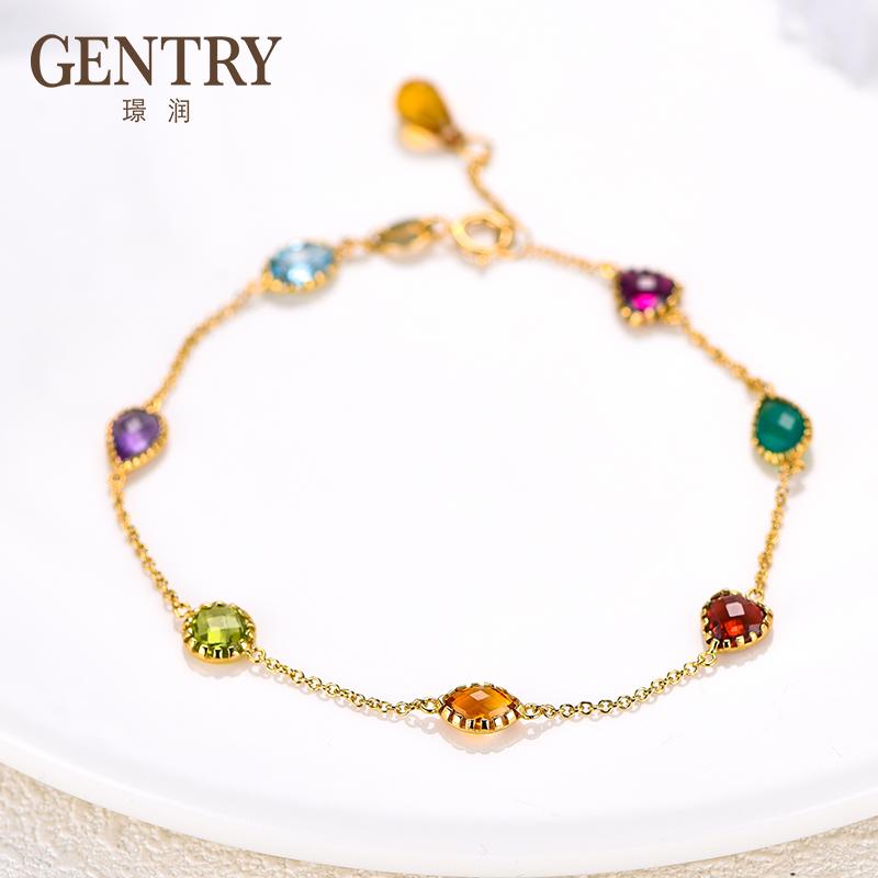 Jingrunduo gem natural 18K Gold Bracelet