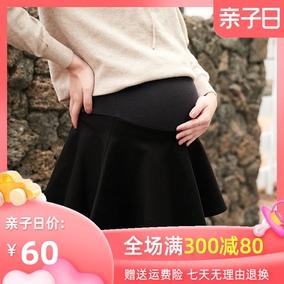 孕妇春秋冬款打底托腹韩版半身裙