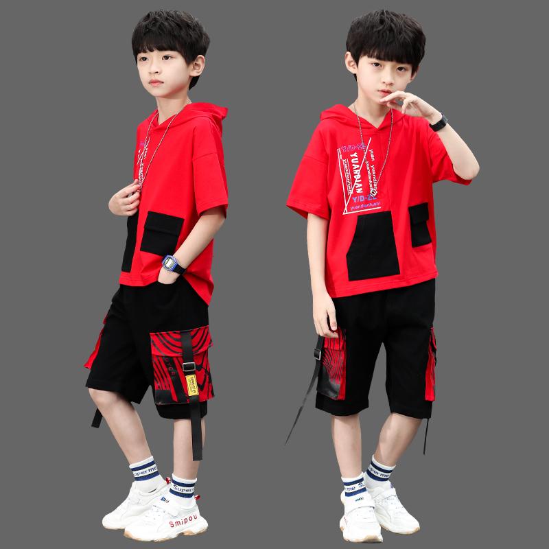 男童运动套装8十10大童男装夏装13小男孩子儿童短袖衣服12-15岁潮买三送一