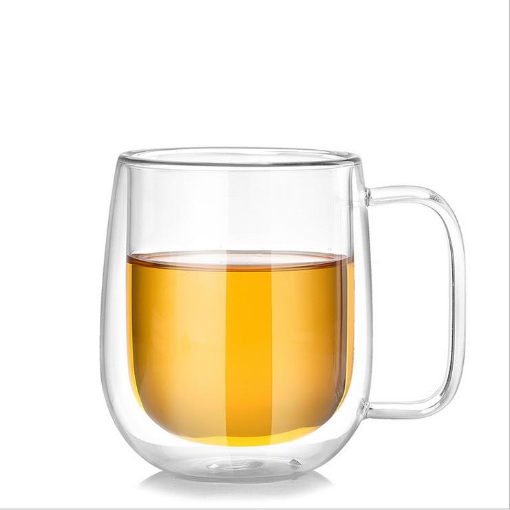 家用水杯帶把玻璃杯茶杯帶手柄雙層耐熱男女士泡茶辦公室大號杯子