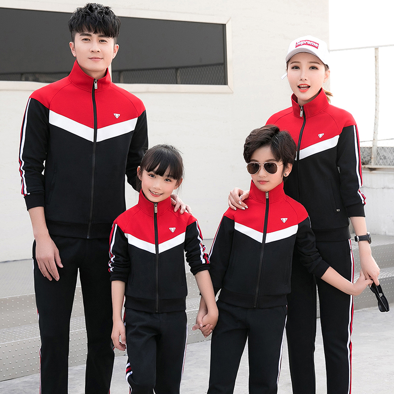 Parent child spring and autumn 2021 new family of three and four mother daughter mother child fashion coat sportswear