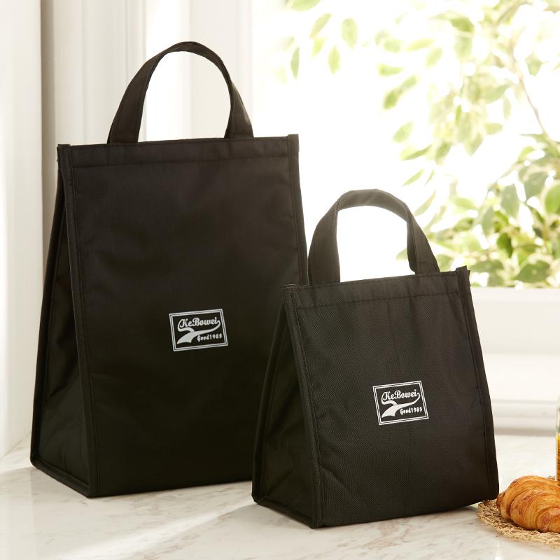 饭盒袋子午餐便当包带饭的手提包学生手拎铝箔加厚帆布饭盒保温袋