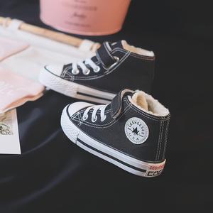 儿童棉鞋男童帆布鞋加绒加厚2019冬季新款宝宝棉鞋保暖女童冬鞋子