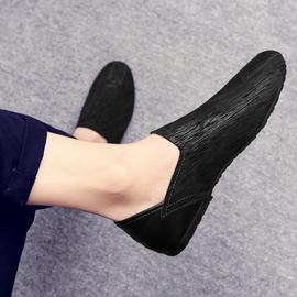 2020新款春季豆豆鞋男真皮韩版潮流百搭个性休闲皮鞋一脚蹬懒人鞋