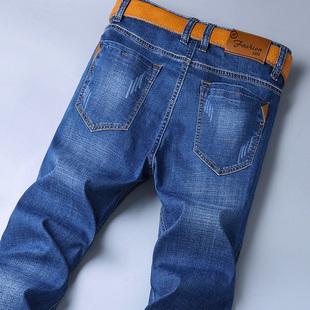 新款弹力夏季薄款牛仔裤男直筒青年修身春季潮流宽松休闲长裤子男