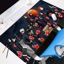 鸣人卡卡西佐助火影忍者鼠标垫竞技游戏大号网吧办公室通用书桌垫