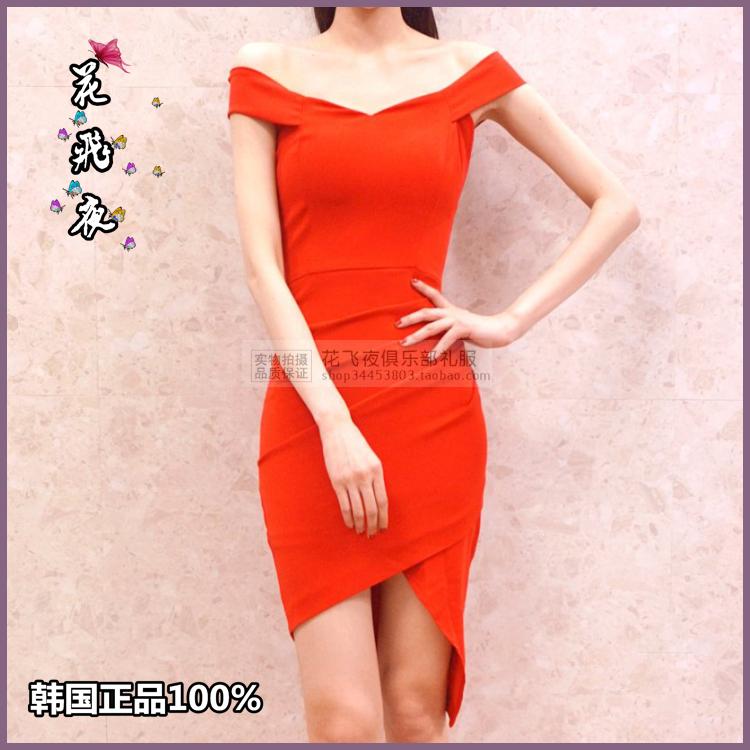 【花飞夜】韩国进口女装2018夏款连衣裙韩版修身洋装裙短礼裙RE23