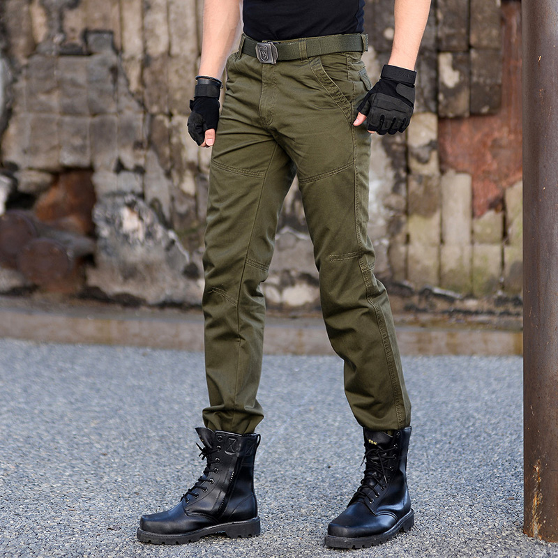 Outdoor 101 airborne division army fan casual camouflage pants, work dress training pants, tactical pants, mens pure cotton slim military pants