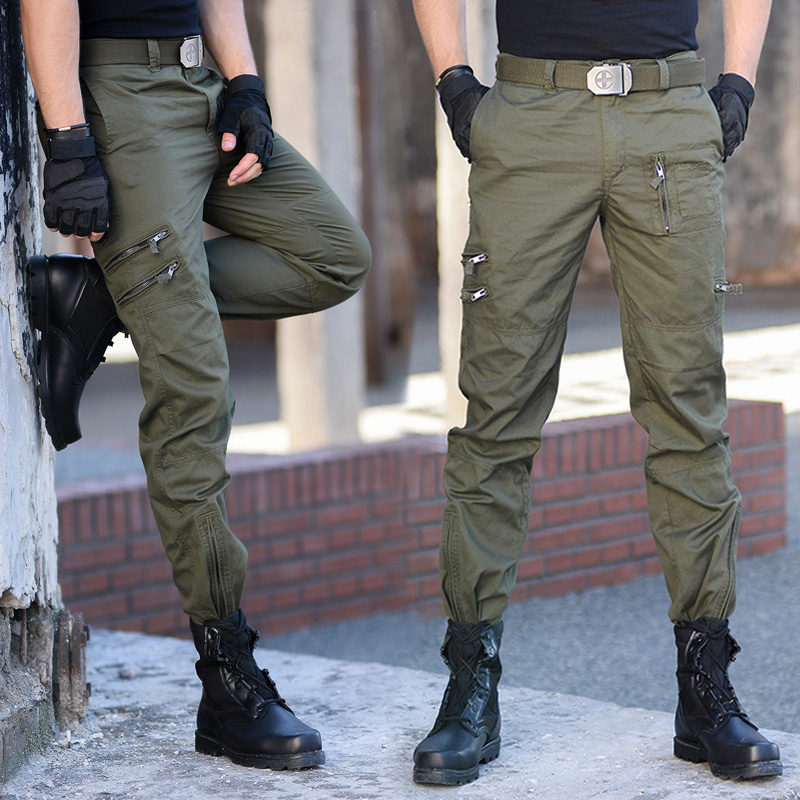Postal outdoor camouflage pants 101 airborne division overalls army fans Multi Pocket mens and womens army fans pants lovers