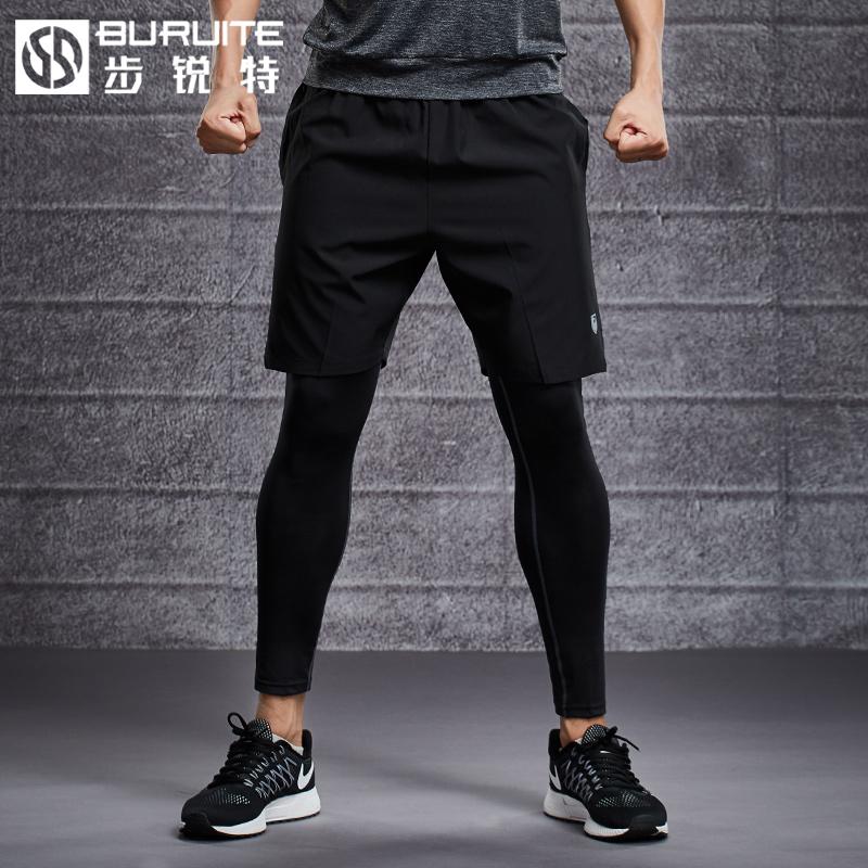 运动紧身裤男士跑步压缩打底裤速干篮球丝袜训练长裤高弹力健身裤