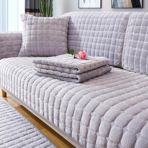 冬季沙发垫冬天毛绒防滑全包萬能套罩四季通用型坐垫子加厚盖布巾