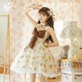 尾款/定金原创三段式jsk可可威化熊lolita洛丽塔蕾丝花边连衣裙夏