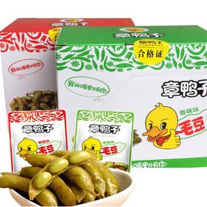 湖南特产章鸭子香辣味爆辣味酱毛豆