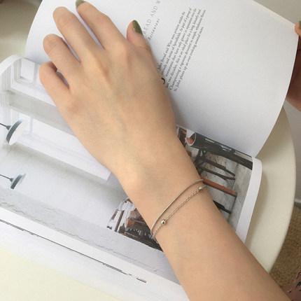 别样e228韩国时尚百搭气质双层手链