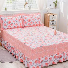 倍宁全棉夹棉床罩单件床裙式纯棉加棉床套1.5m1.8米加厚韩版床单图片