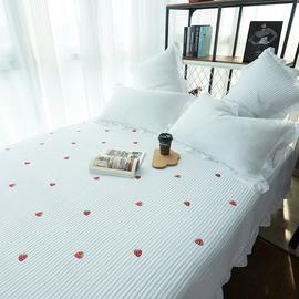 床盖单件韩国绗缝被夏季空调被夹棉床单欧式床上床盖三件套床铺盖图片