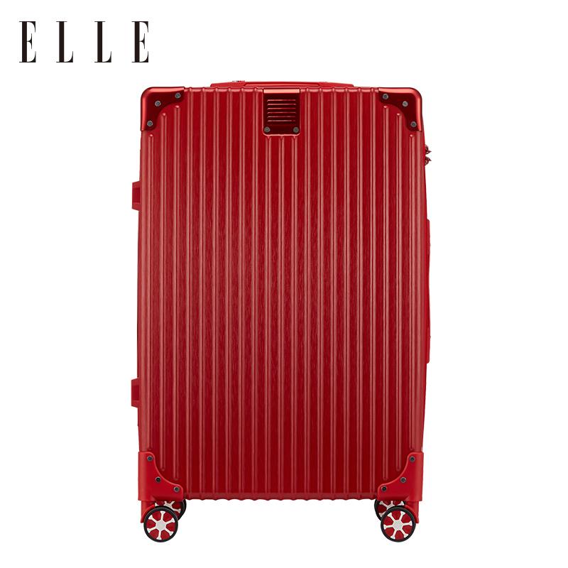 ELLE拉杆箱男万向轮旅行箱女可爱清新密码箱20寸登机箱24寸行李箱
