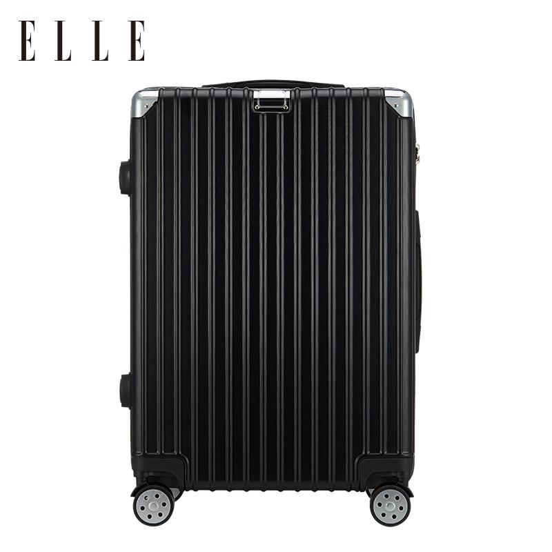 ELLE镜面拉杆箱万向轮24寸拉链旅行箱男女密码箱行李箱20寸登机箱