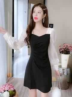 早秋季长袖连衣裙女装春秋装2021年新款小个子时尚气质显瘦裙子