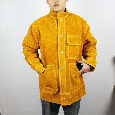 牛皮电焊工作衣服防火阻燃耐磨隔热防辐射敖包防护用品