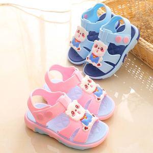 一岁宝宝凉鞋女夏小公主防滑软底1岁2-3-5男童小孩学步鞋防水塑料