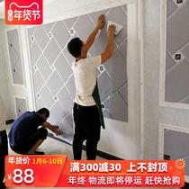 欧式电视背景墙壁纸家用现代简约奢华花纹客厅墙纸影视墙自粘壁画