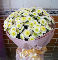 Beijing same city Flower Courier Shenzhen Memorial Flower fountain with flowers mourning flowers tribute to mourn white chrysanthemum