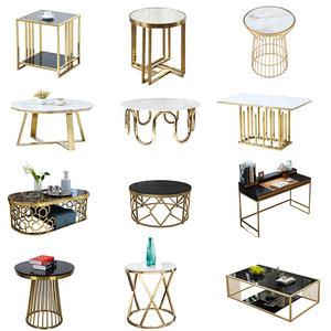 定制不銹鋼餐桌腳支架桌腿鐵藝辦公桌腿茶幾客廳電腦桌腳支架鍍鈦