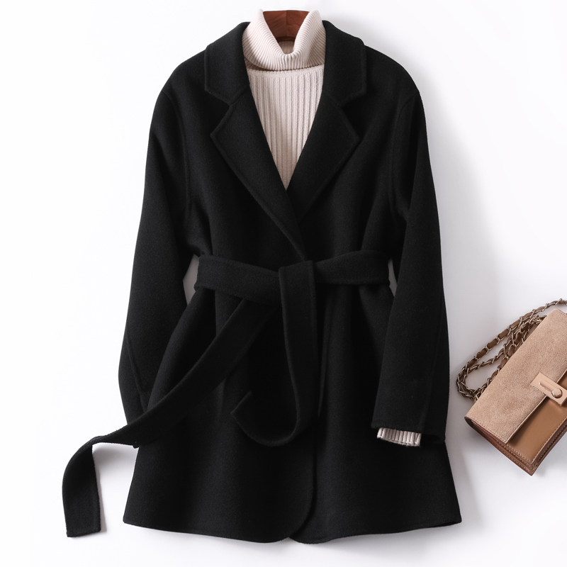 Double-sided cashmere coat women short autumn and winter coat women 2020 new all-match small woolen woolen suit