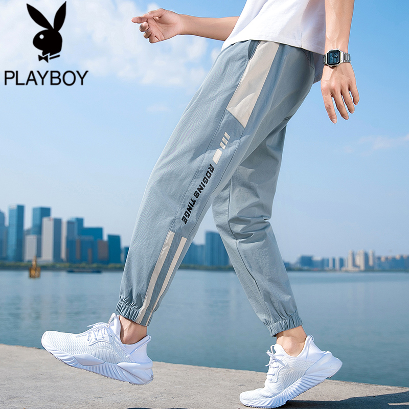 Panasonic pants men's 2021 spring and autumn trend nine pants loose casual thin tooling trousers men's summer