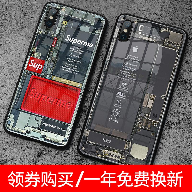 sup伪拆机图手机壳苹果11pro伪装7p机械r潮牌iphone个性8plus/IP/xsmax原机x/mas/iphonexmax/iphonexr/6s潮r