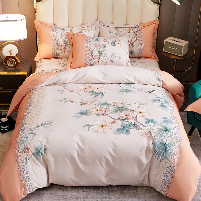 新中式加厚100全棉磨毛四件套床单怎么样