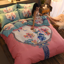 Pure Cotton Four-piece Cotton Suite 1.5/1.8m2.0m Double Bed Sheet Covered Bed Ham Bed Goods Home Textile