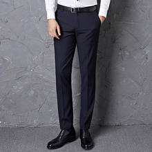 西裤男士修身黑色秋冬款直筒西装裤工装职业商务裤子休闲男装正装