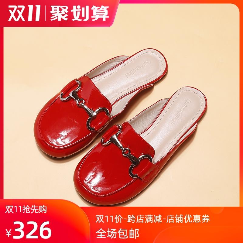 2020夏新款网红穆勒平底包头凉拖鞋