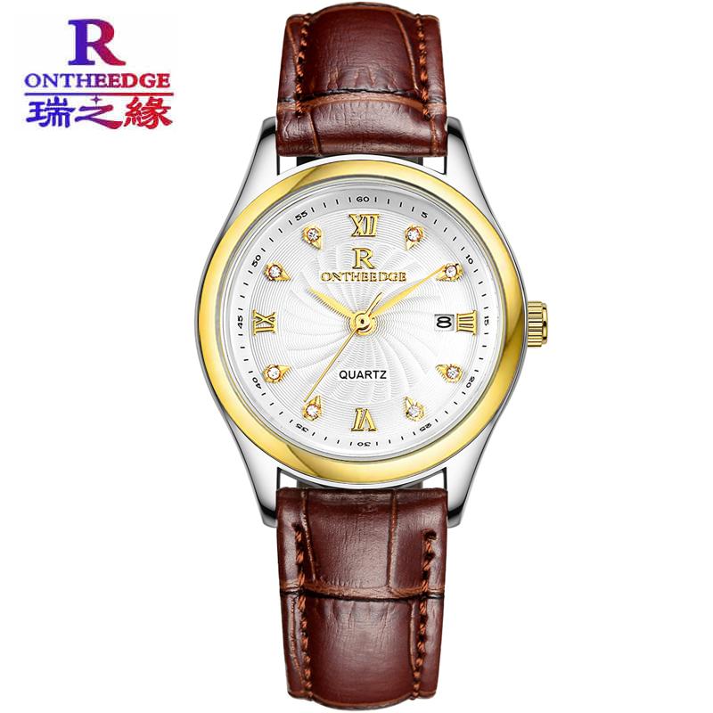 韩版超薄防水商务真皮带石英女表男士腕表情侣学生男女士男表手表图片