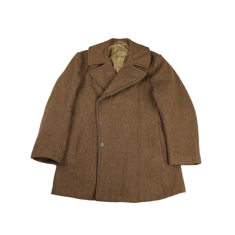 1942 元年实物 麦基诺双排扣 26OZ 军官羊毛尼大衣 PEA COAT 740