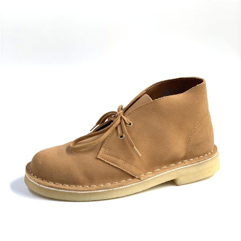 clarks其乐女鞋2020春经典款Desert Boot.英伦休闲踝靴沙漠靴女