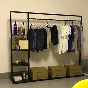 室內簡易晾衣架掛衣架落地臥室單桿式衣帽架衣服架子多功能收納架
