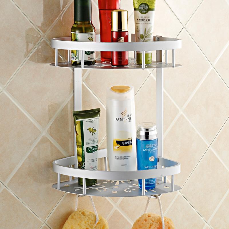 吉百居 浴室衛生間洗手間廁所牆角轉角落三角形三腳架置物架壁掛