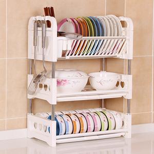 厨房碗筷收纳盒放塑料水槽晾沥水架