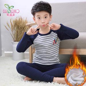 男童保暖内衣套装加绒冬季保暖衣