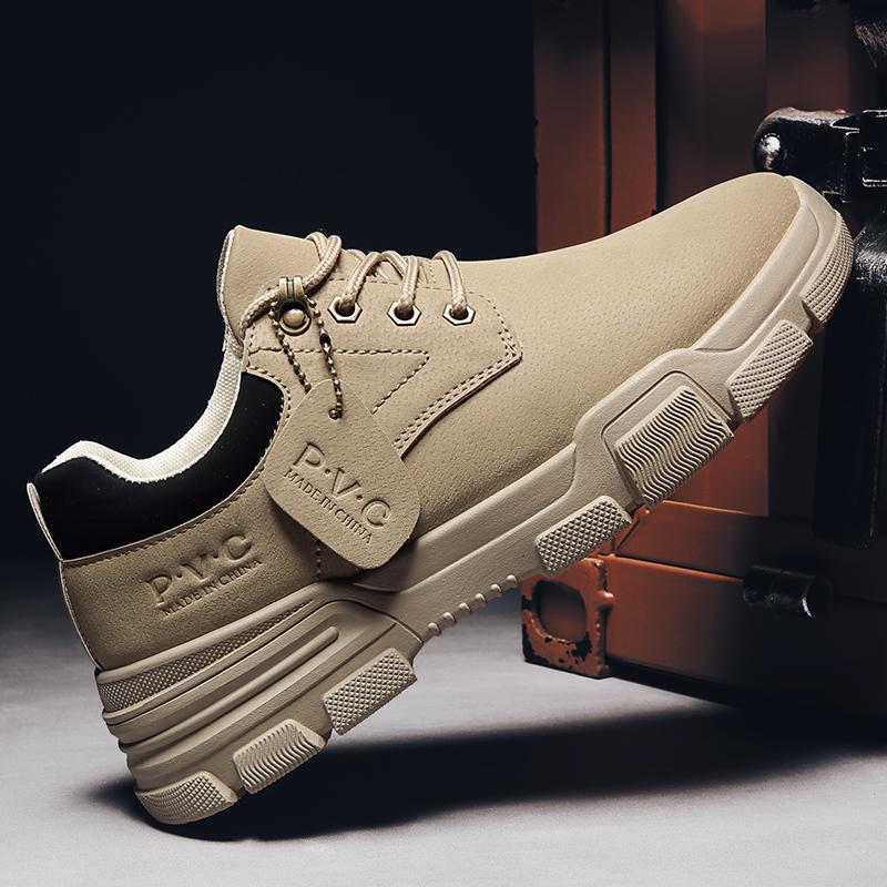 Martin shoes mens 2021 autumn new popular mens shoes trend British versatile leather shoes casual mens boots short boots