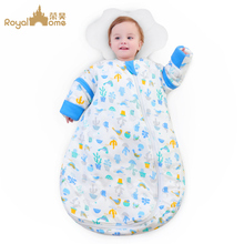 Baby sleeping bag spring and autumn winter winter baby child child thickening in the big child anti-kick by the artifact four seasons universal