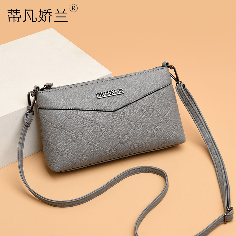 Soft leather small bag female 2020 new middle-aged mother clutch bag middle-aged lady change