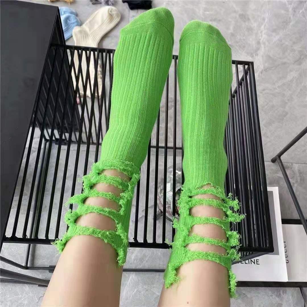 网红乞丐袜纯棉手工潮搭袜子