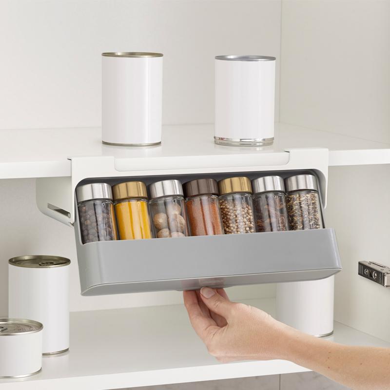 英国Joseph收纳架厨房调料瓶佐料盒悬挂调味品罐置物架家用免打孔