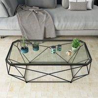 北欧长方形茶几 创意小户型客厅ins风铁艺玻璃桌网红时尚现代简约