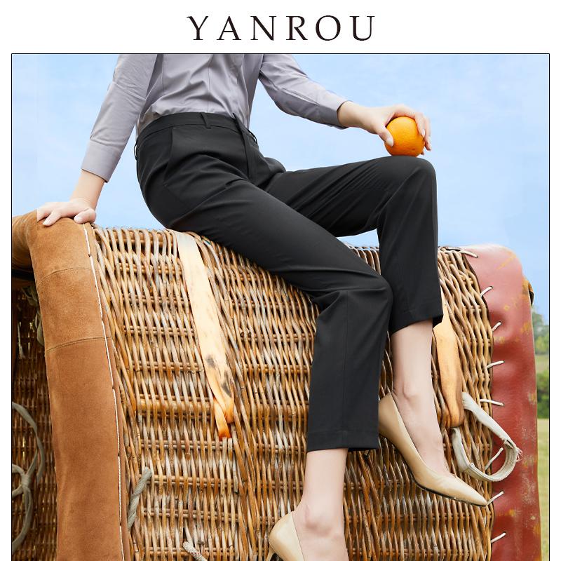 春秋黑色直筒高腰显瘦烟管裤西装裤质量如何