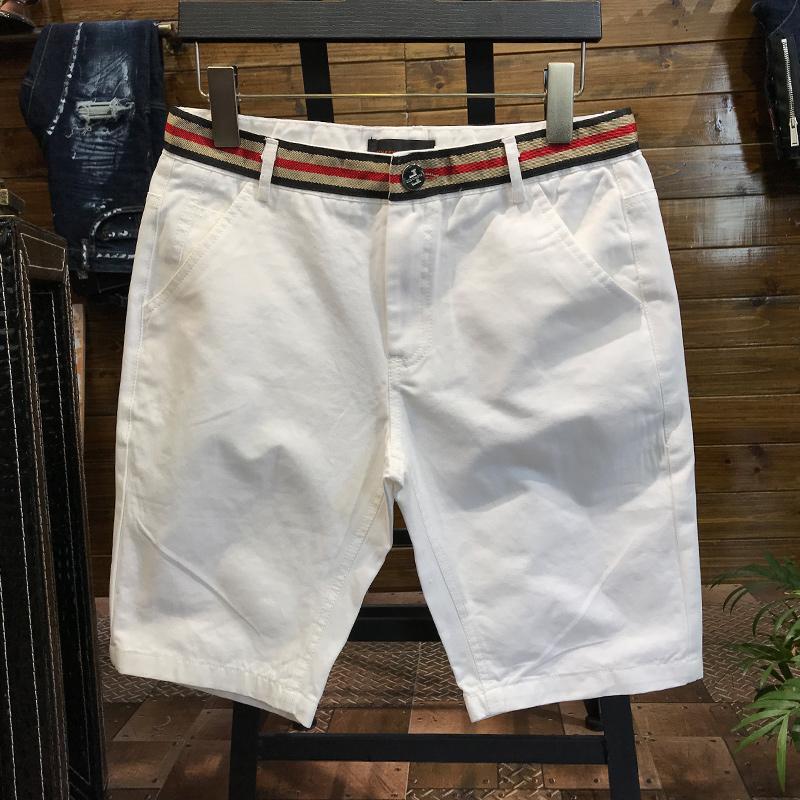 SA5M2018夏季新款男士短裤修身韩版潮流五分裤薄款运动沙滩裤男